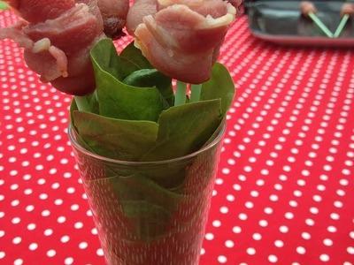 Cómo hacer rosas de bacon en el microondas