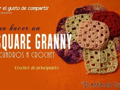 Como Hacer un Cuadrito a Crochet