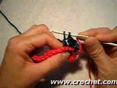 Como tejer el Punto Relieve por atrás en tejido crochet.