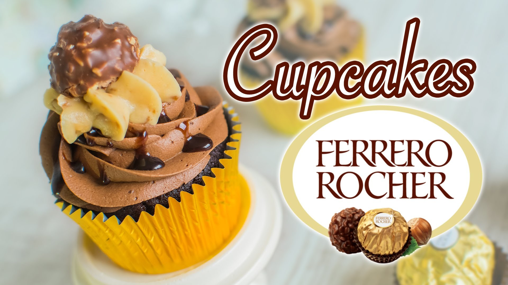 Cupcake Ferrero Rocher (chocolate y avellanas)