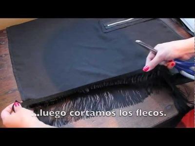 Customiza una camiseta con flecos DIY muy fácil