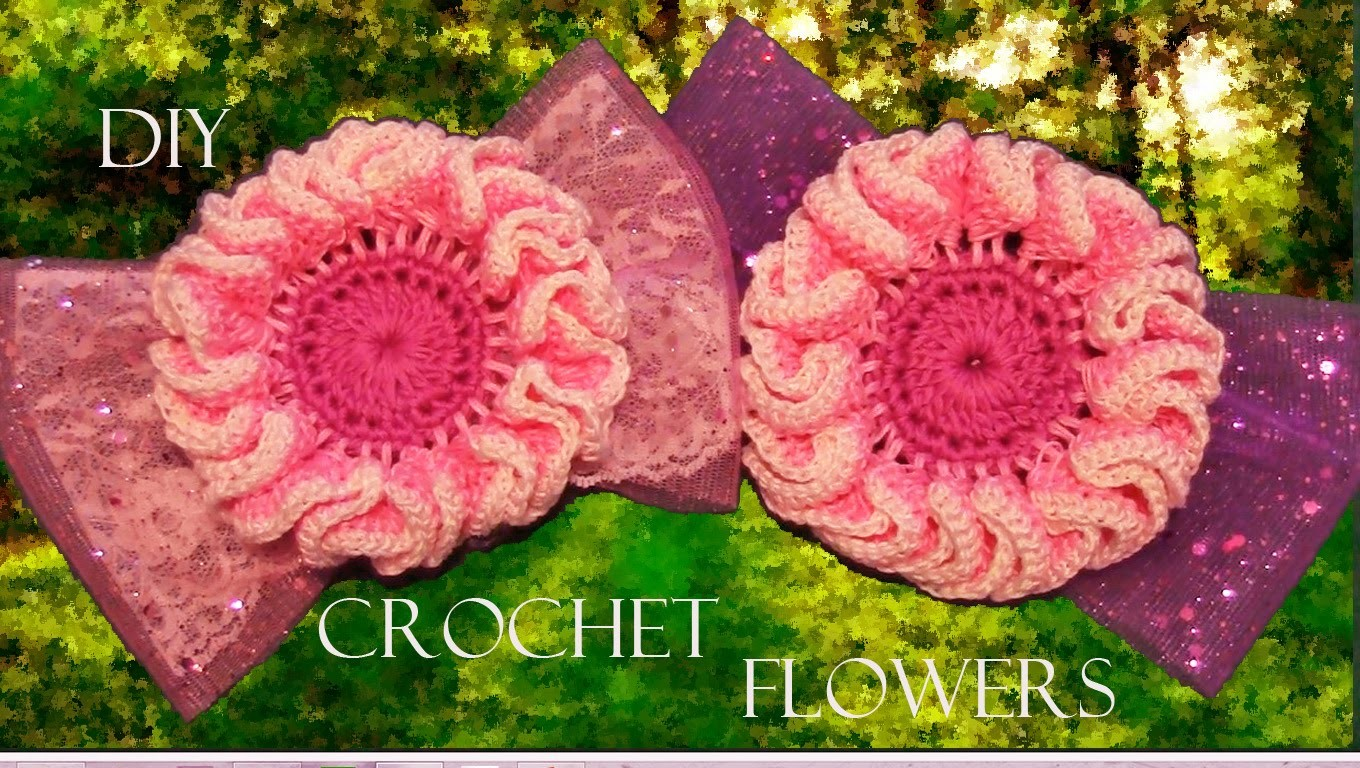 DIY flores para el cabello - How to make crochet flowers, ribbons and headbands