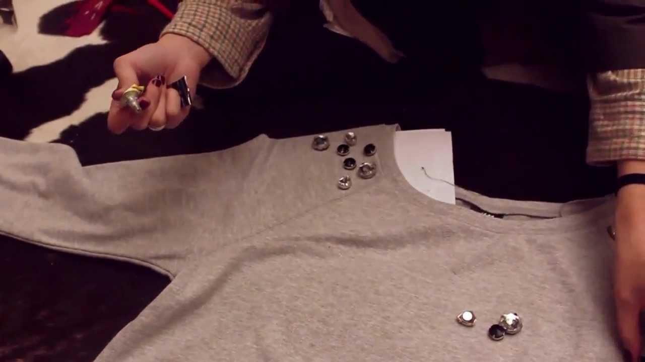 DIY:From belt to sweater: Diamond sport