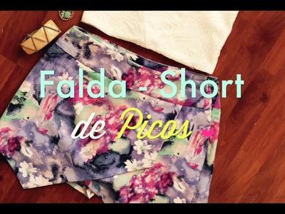 """DIY! Short - Falda con picos (""""Skort""""). Zoe HACK #2"""
