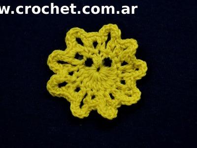 Iman Mini Sol para heladera en tejido crochet tutorial paso a paso.