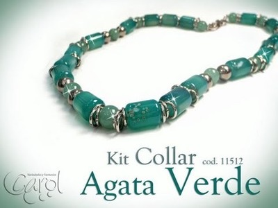 KIT 11512 Kit collar agata verde x und