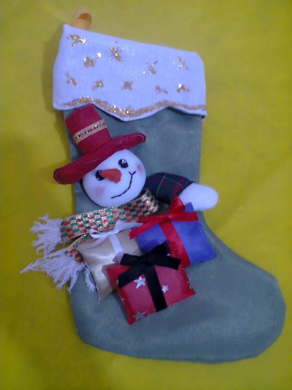 Muñecos soft. bota navideña con snowman. Christmas boot. subtitulado. proyecto 203