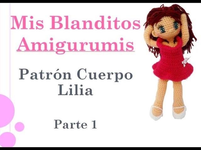 Patrón crochet muñeca Lilia Amigurumi Parte 1 (zurdos)