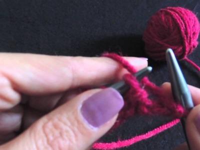 Puntada de jersey - Curso básico de tejido