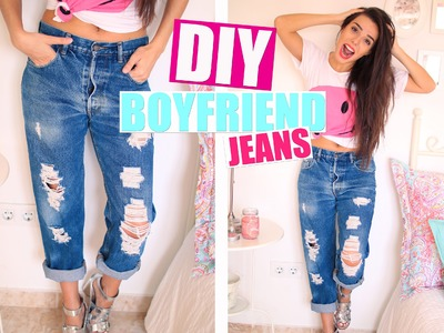 Renueva tu Ropa ♡ DIY Boyfriend Jeans  | A Little Too Often