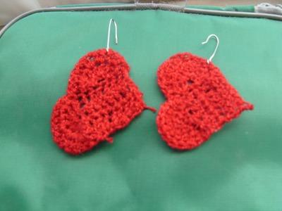 San Valentín DIY Aretes con forma de corazón