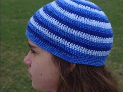 Tejiendo un gorrito con tres colores en crochet parte 2