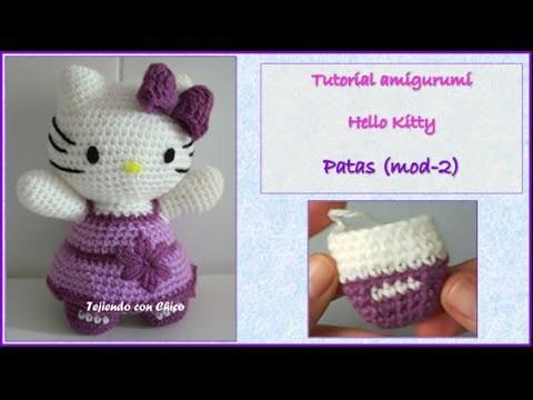 Tutorial amigurumi Hello Kitty - Patas (mod-2)