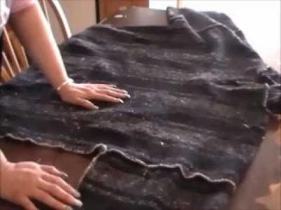 Tutorial: Cómo achicar sudadera rustica muy grande.