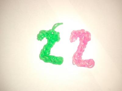 ♥ Tutorial: número 2 hecho con gomitas (sin telar) ♥