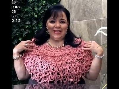Capita Olas - tejido con gancho fácil y rápido  - Tejiendo con Laura Cepeda