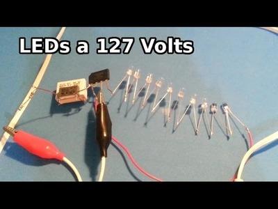 Como conectar varios LED a la toma de 127 volts