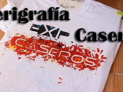 Cómo estampar camisetas en casa - Serigrafía casera (Experimentos Caseros)