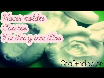 Como Hacer Moldes Caseros Flexibles FÁCIL.ORIGINAL (Vídeo Express) | Craftndcolor ♥