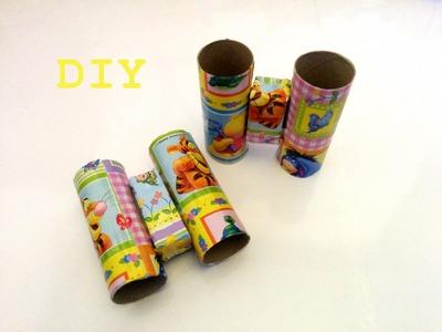 Como hacer prismáticos con tubos de cartón. DIY, cardboard binoculars