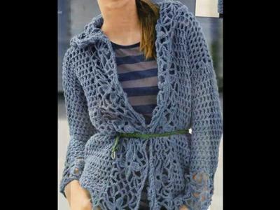 Como Tejer Suéter con Capucha con Cuadros a Crochet