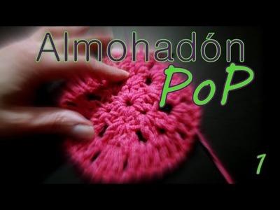 Cómo tejer un almohadón granny circular 1° parte (granny pillow) -tejido para zurdos-