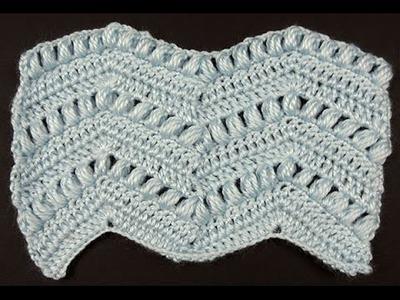 Crochet : Punto Zig Zag # 5