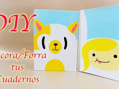 DECORA. FORRA TUS CUADERNOS | FIONNA & CAKE | ADVENTURE TIME | BACK TO SCHOOL - YuureYCrafts