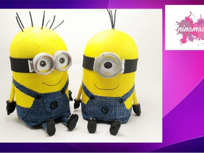 "DIY. Como hacer una ""caja secreta"" de MINION.  How to make a secret box of MINION"