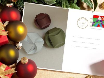 Esferas de origami.NAVIDAD.