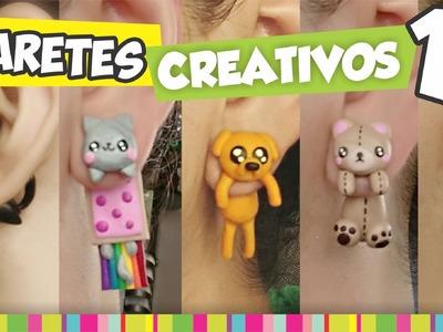 FÁCIL✔ Aretes Creativos PARTE 1