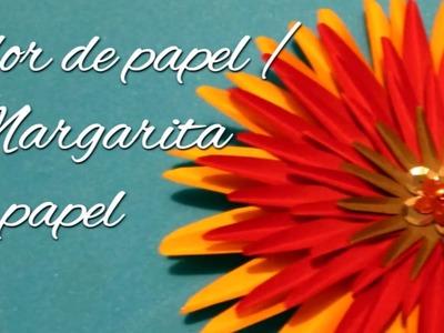Flor de papel. Margarita de papel día de las madres