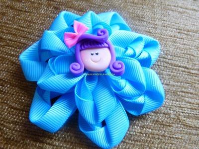Flores lazos accesorios y moños  en cinta para el cabello paso a paso  video  265