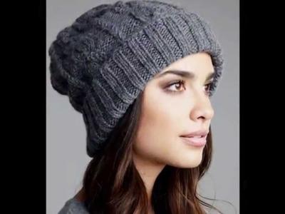 Gorras de mujer tejidas en crochet ganchillo imagenes