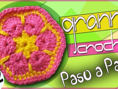 GRANNY #2 - Tejido a crochet (para Mantas, Bolsos, Cobijas, Chal)