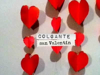 Guirnalda, colgante cadena corazón san Valentín Facil ideas valentine