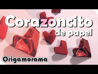 Haz un CORAZONCITO súper fácil!!! #origamienamorado