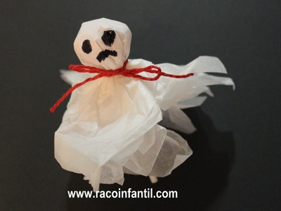 Ideas para Halloween. Piruletas con forma de fantasma