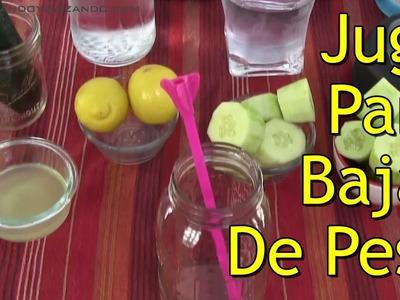 Jugo de Limón y Pepino Para Bajar De Peso