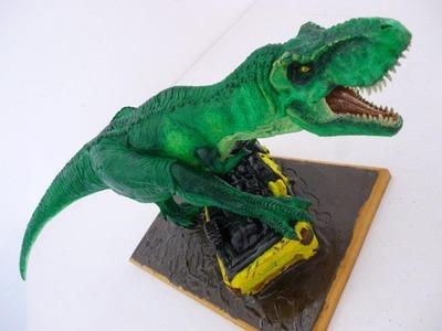 JURASSIC PARK- T.Rex estatua en plastilina sculpey -Pagkt0JorgeArmas- ABR2013