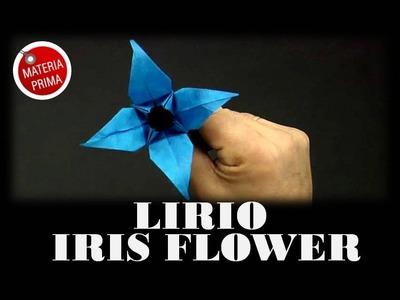 Lirio. iris flower Origami