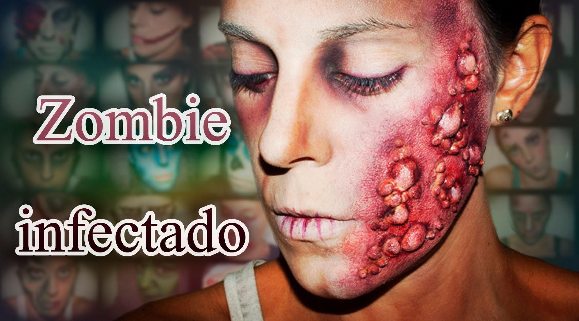 Maquillaje Halloween Zombie infectado Makeup FX #16 | Silvia Quiros
