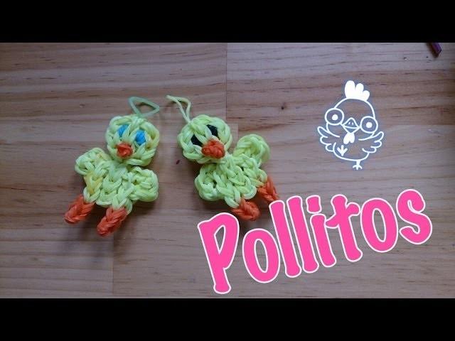 Pollito de gomitas con telar   chick for rainbow loom
