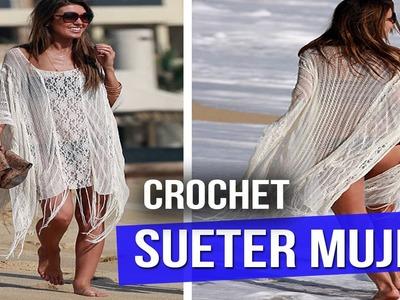 Salidas De Baño Mujer - Albercas y Playa - Tejidas a Crochet ( ideas y diseño )