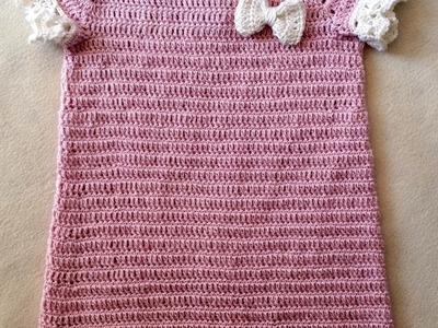 Tejer vestido de bautizo – vestido tejido – vestido para bebés parte 1. 6 de Berlín Crochet