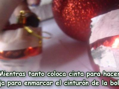 BOLAS DE NAVIDAD DE MICKEY MOUSE- COMO HACER ESFERAS DE NAVIDAD