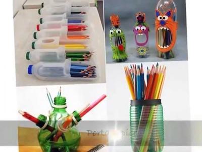 Botellas de plástico 10 Ideas para hacer manualidades