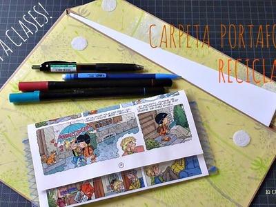 Carpeta Porta folios Reciclada, Vuelta a Clases, Vuelta al Cole, Back to school
