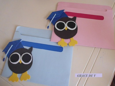 Carpetas de graduacion con búhos (how to make a folder)