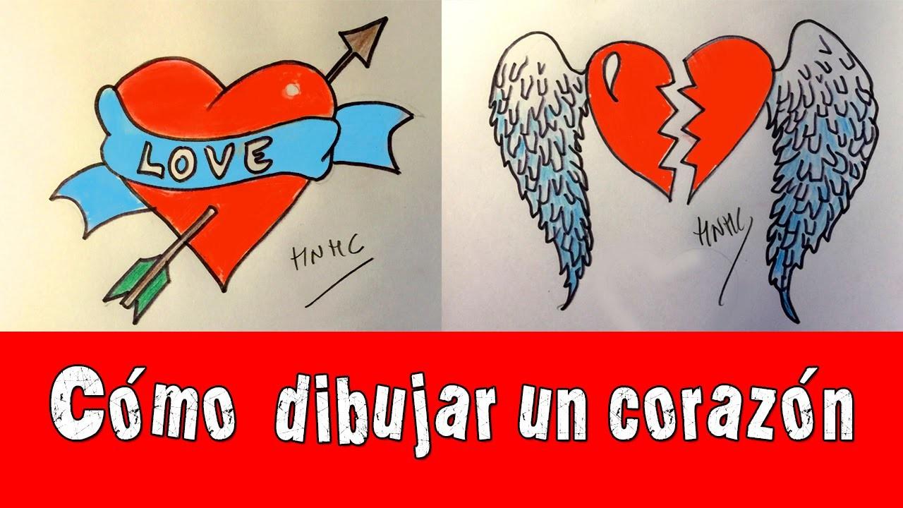 Cmo dibujar un corazn con flecha y con alas My Crafts and DIY